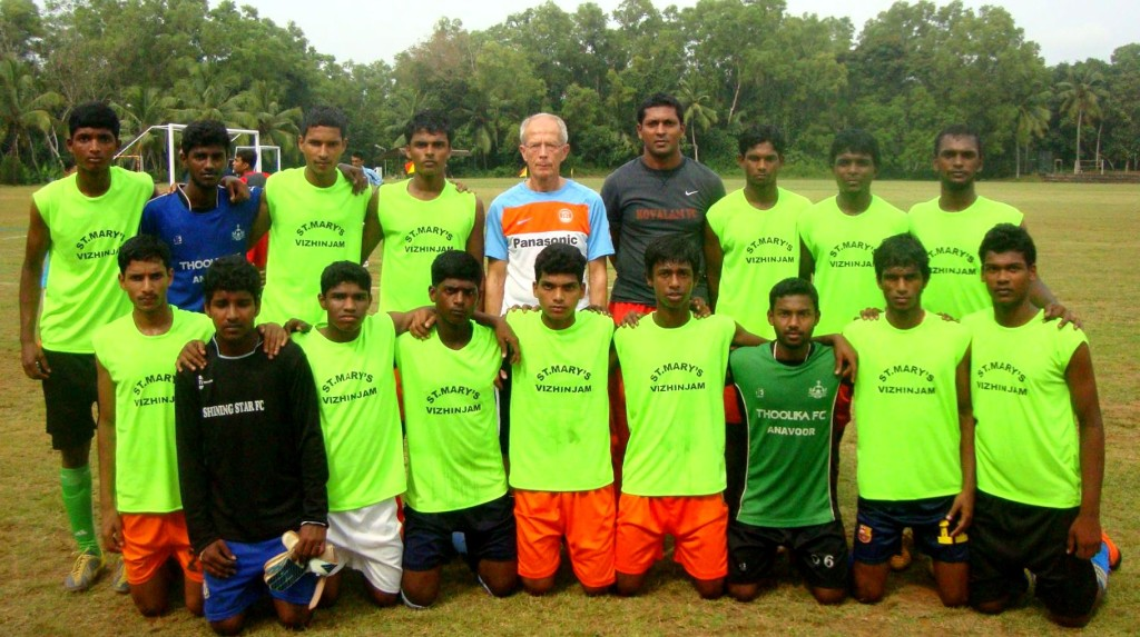 Kovalam FC with Rob Baan
