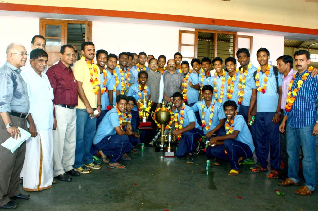 Calicut University, football , Kozhikode, Kerala, All India Inter-University Football Championship, Ashutosh Mukerjee  Trophy, M.G University, Kottayam, Nirmala College, Muvattupuzha