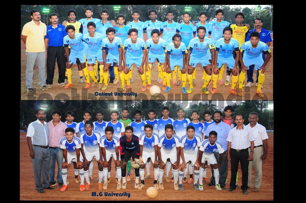 Calicut University, M.G. University, Football, All India Inter-University Football Championship, Muvattupuzha, Santosh Trophy, Kerala Varama Collegere, Christ, Irinjalakkuda, Thrissur