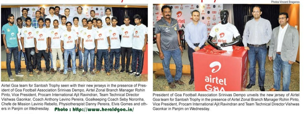 Goa, Santosh Trophy, Football, Puma, Airtel, Kit, Sponsors, Soccer, West Zone, Indianfootball, GFA, Goa Football Association