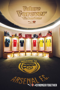 Arsenal, Puma, Bangalore, UB City, Tunnel of time, India, Football