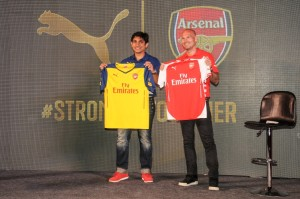 Arsenal, Puma, Bangalore, UB City, Tunnel of time, India, Football, Ljunberg
