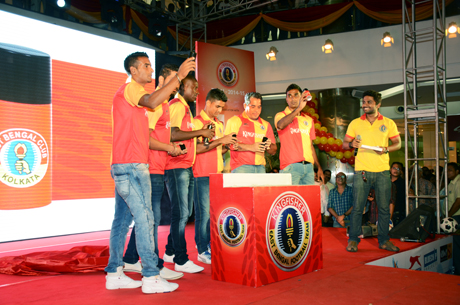 East Bengal, Football, Kolkata, South City Mall, Launch, Indianfootball, i-league