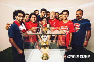 11 lucky Gooners who got an exclusive tour of the tunnel