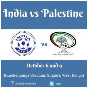 India, Palestine, Football, Soccer, FIFA, Friendly, October, West Bengal, Kanchenjunga, Siliguri, International