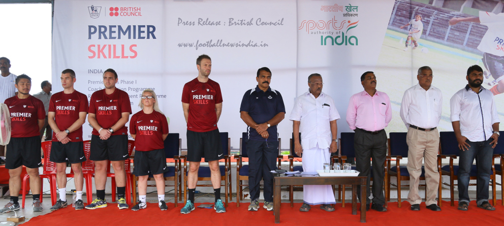 Premier Skills,,British Council, Football, Kerala, Thrivananthapuram, Premier League, Goa, SAI, LNCPE, Referee, Coaching, Coaches, Fulham, Aston Villa, Tottenham, Scudamore
