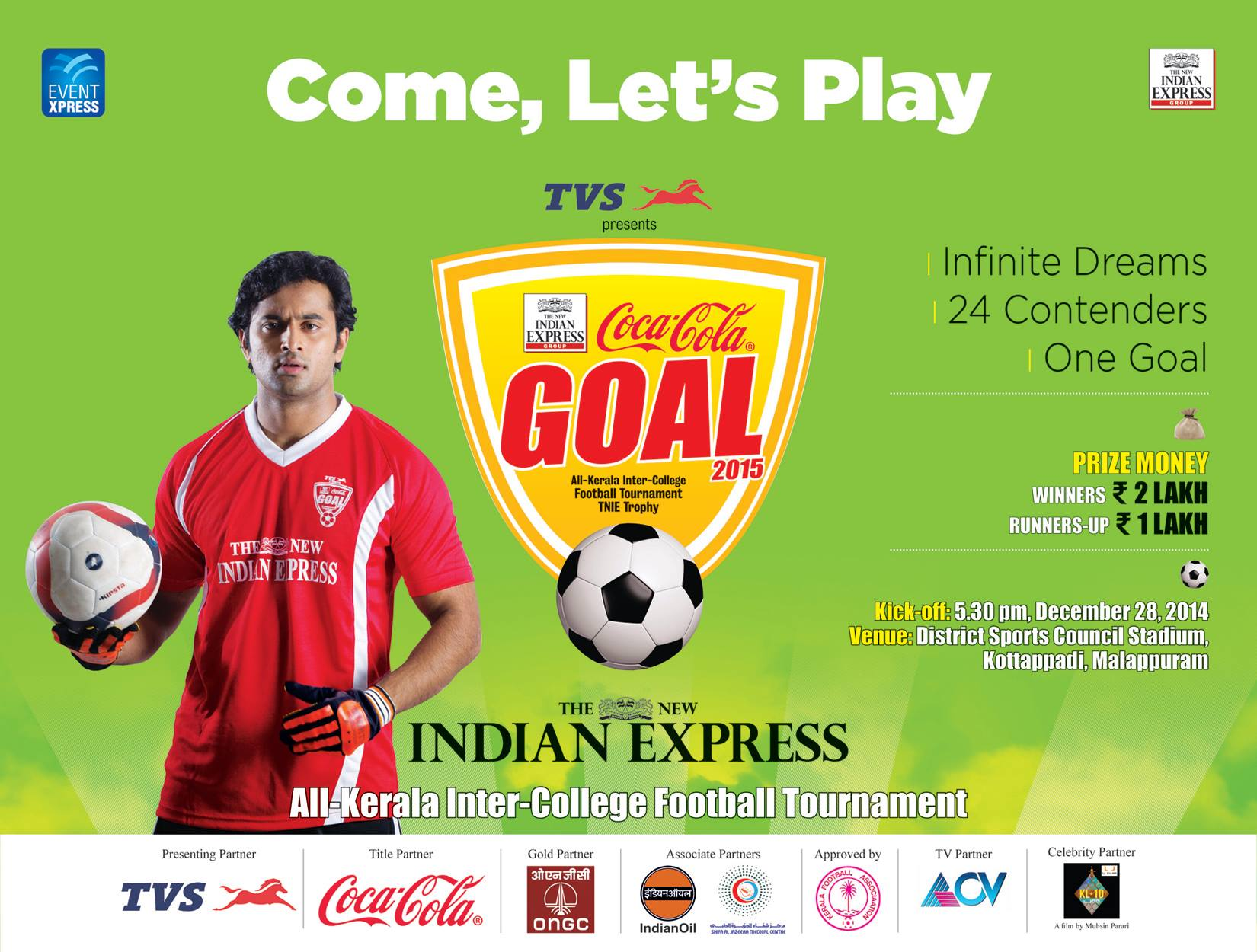 Goal, Football, Tournament, college, Kerala, Football, Soccer, Indian Express, TVS,