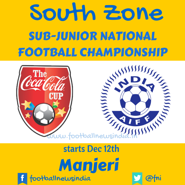 Sub-Junior, Football, National, Championship, The Coca Cocla Cup, 2014-15, AIFF, Soccer, U-17, World Cup, Scouting, Zonal, Final, Round, South Zone, Manjeri