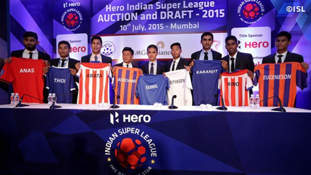 indian super league 2015, ISL, Football, India, HeroISL, IMG, IMG-Reliance, Ambani, Reliance, Domestic Players, I-league, Free Agent, Bengaluru FC, Auction, Draft, Transfers