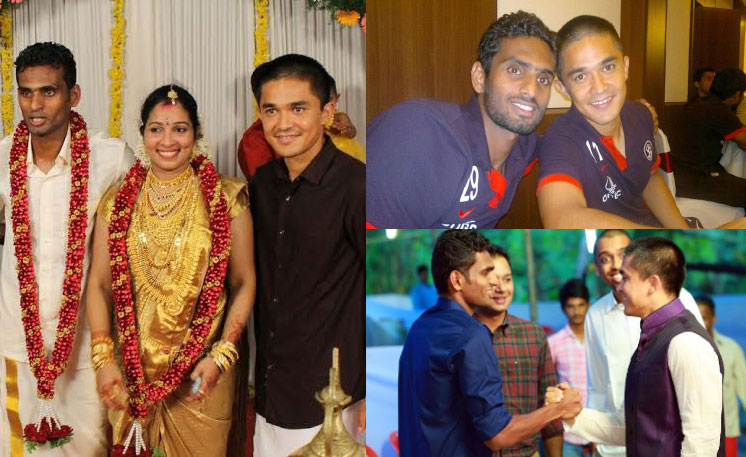 Vineeth CK, Sunil Chhetri, Wedding, Kerala, Kannur, Star, Indian Football, Captain, Soccer, Kerala, North Kerala, Biriyani, Thalassery,