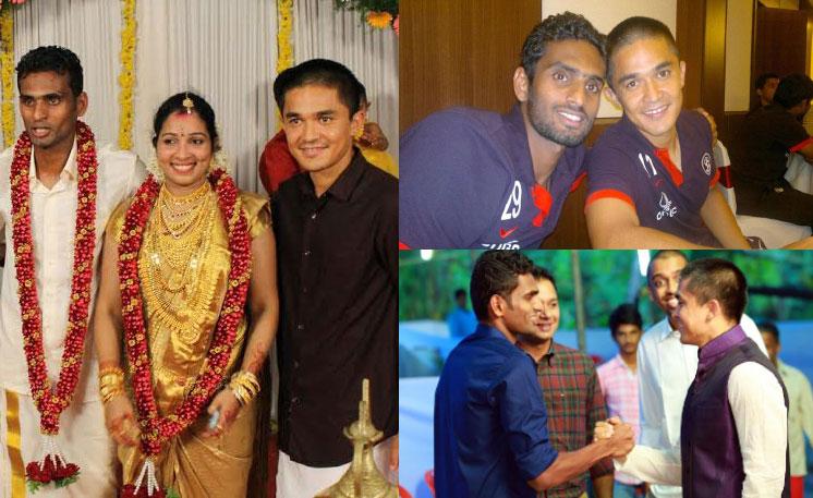 Vineeth CK, Sunil Chhetri, Wedding, Kerala, Kannur, Star, Indian Football, Captain, Soccer, Kerala, North Kerala, Biriyani, Thalassery,