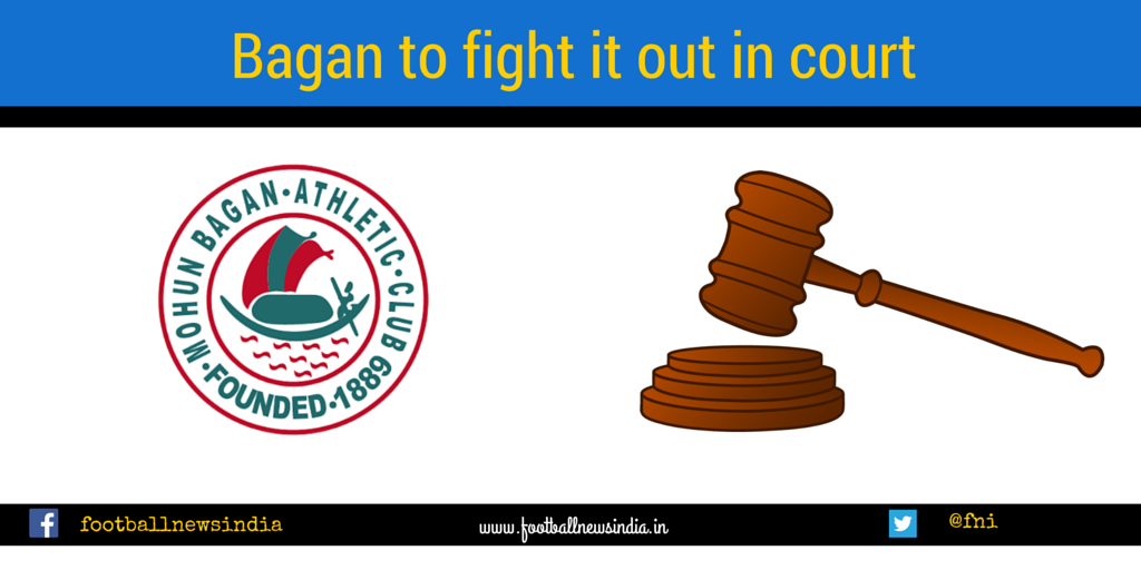 Mohun Bagan, Court , United Spirits Limited, McDowell, Football, I-league,
