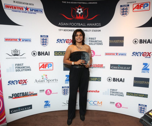 Aditi Chauhan, Asian Football Awards, 2015, Football, Wales, U.K, Premier League, Asian, Origin, Sikh,England, West Ham, Tottenham, Swansea City FC