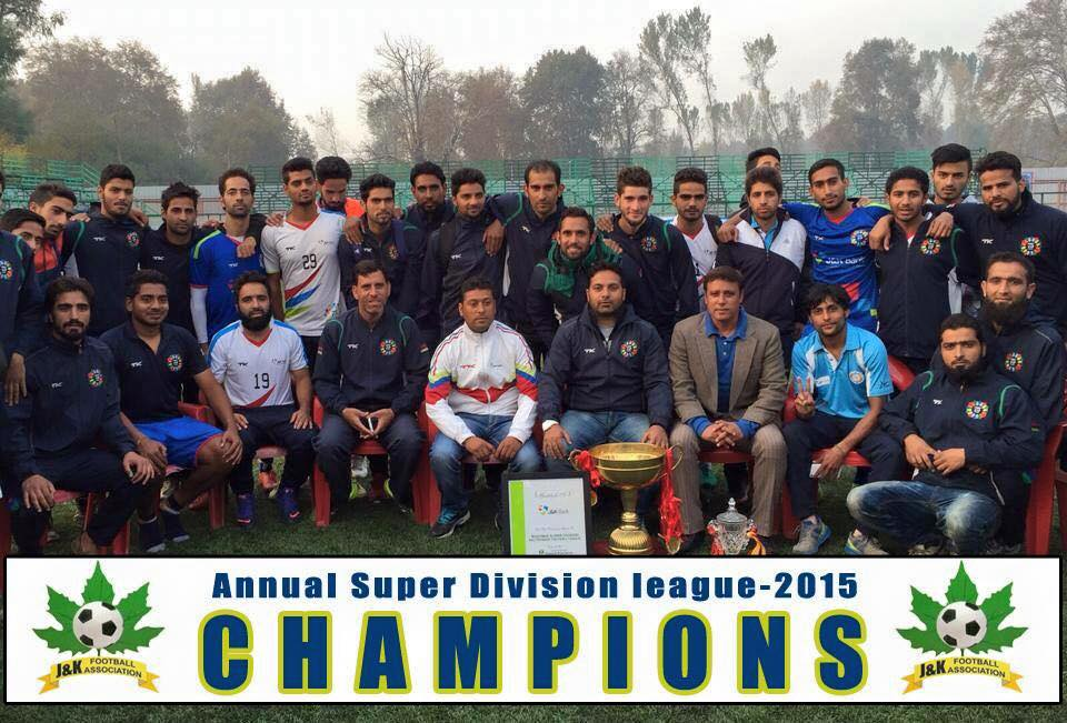 Jammu and Kashmir, Super Division League Champions - J & K Bank, football, Khyber,