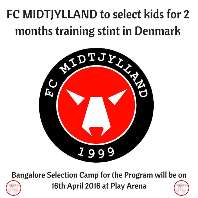 FC MIDTJYLLAND, Football, Soccer, training, Kids, Bangalore, Denmark, Danish Superliga