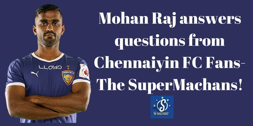 Mohan Raj, Football, Chennai, Tamil Nadu, India, Indian Super League, Facebook Live, Fans, The Super Machans